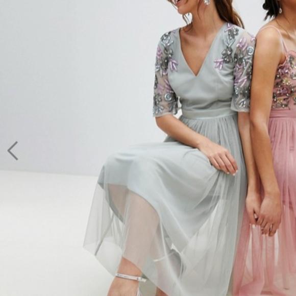 835a0cc181407 Maya Dresses | Maternity Embellished Tulle Sleeve Midi Tulle | Poshmark